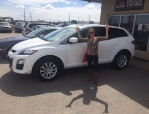 Jennifers excitment says it all! Congrats on your 2012 CX-7!