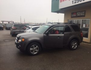 Ready to go in his 2012 Escape!