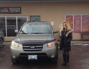 Hanien with her 2008 Santa Fe, two beauties!