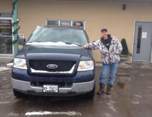 Chris ready to go with 2005 F150!