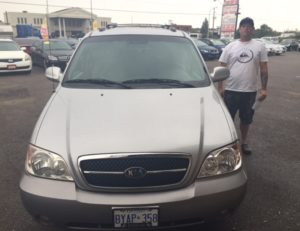 Dale and his 2004 Kia sedona!