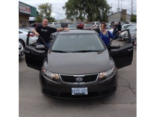Abigal just as happy as her sister Chelsea with her 2011 Kia Forte!