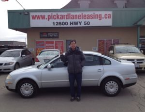 Ted going green with his 2005 Passat!