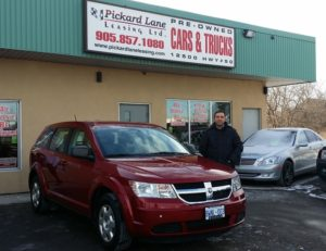 Yonan and his 2009 Dodge Journey