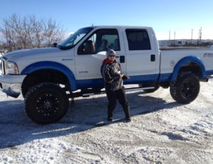 Antonio and his 2005 Ford F350 Monster Truck.... Now thats cool!!!
