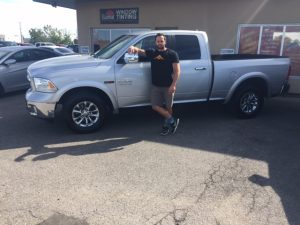 Clint picking up his beautiful 2014 Dodge Ram 2500 Eco Diesel!