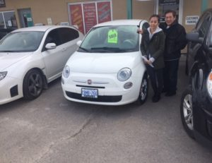our 2013 fiat has found a new home!