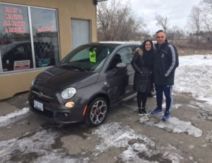 Loyal customer Lori is the proud owner of her gorgeous 2016 Fiat 500!