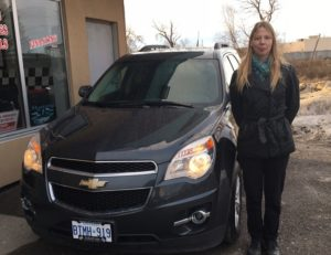 Natasha picking up her 2010 Equinox!