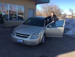 Mathew taking delivery of his 2009 Cobalt