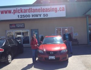Penny and Ted's gift to their daughter a 2008 Mazda 3!