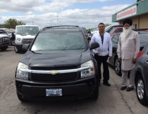 Mr Singh and his 2005 Equinox