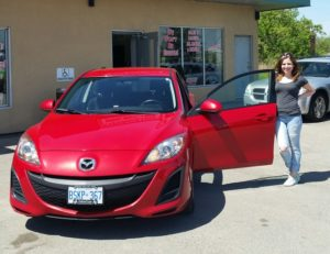 Amanda looking good with her 2011 Mazda 3!