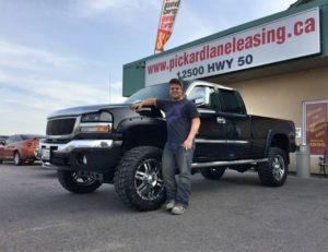 Casey pick up his monster truck!