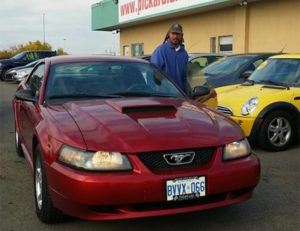 Brians gift for his daughter...a red hot mustang...Wow!