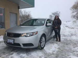 This young driver just picked up her 2011 Kia Forte! Enjoy the ride!